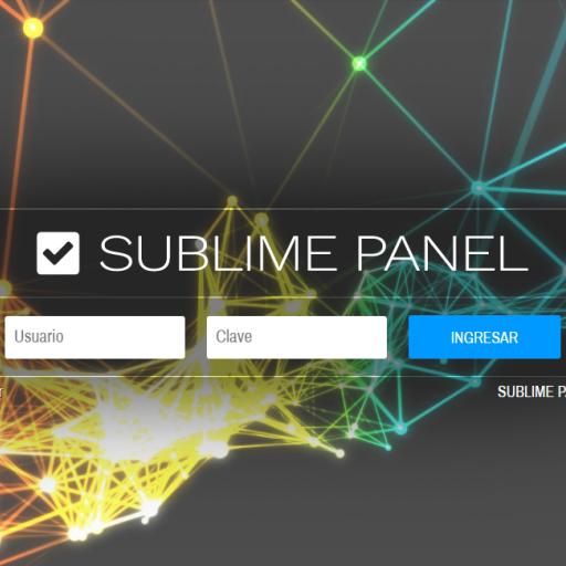 Inicio, comenzando a usar sublimePANEL
